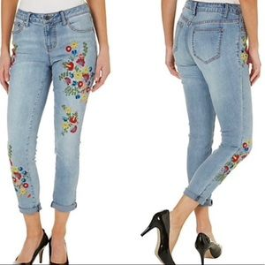 Floral High Rise Skinny Jeans